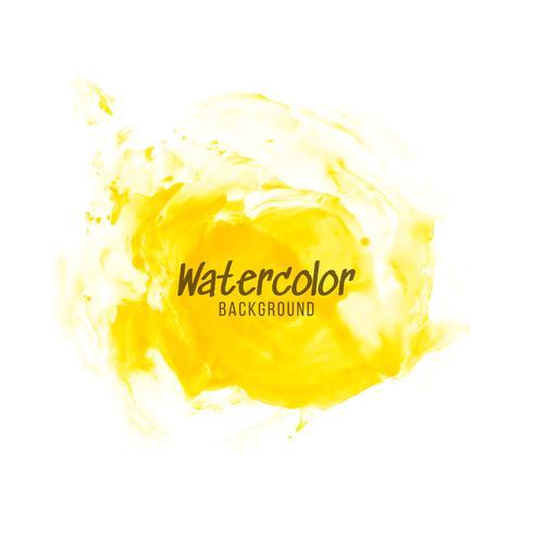 Fundo abstrato amarelo aquarela design vetor