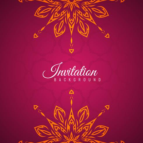 Abstract decorative Invitation background design
