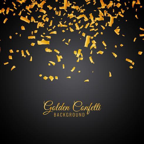 Abstracte gouden confetti decoratieve achtergrond vector