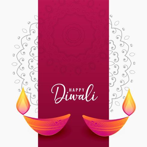 fundo artístico de diya diwali decorativo