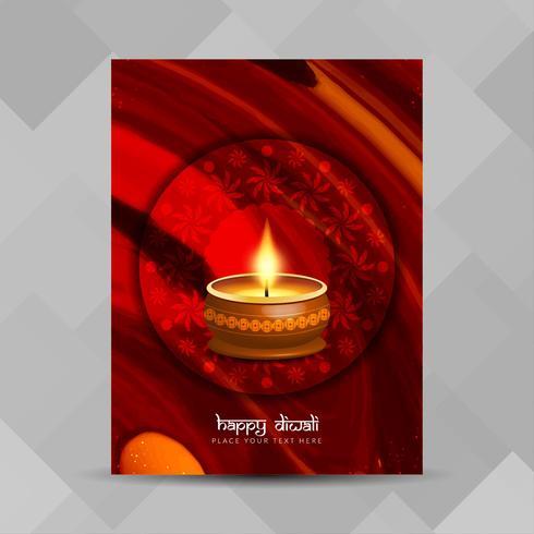 Modelo de design de folheto feliz Diwali feliz