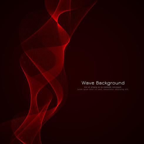 Fondo rojo elegante abstracto del diseño de la onda