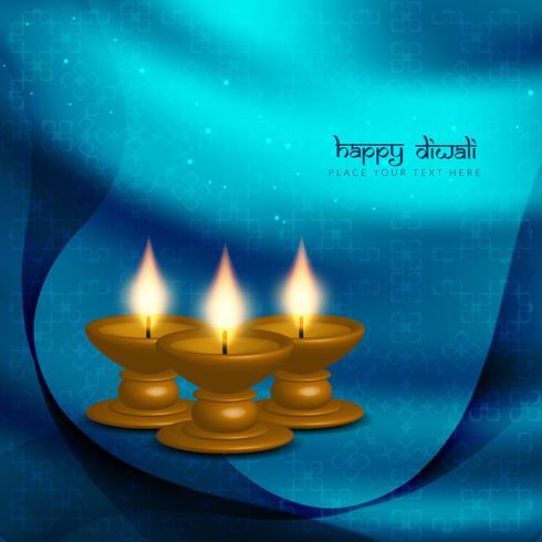 Abstrait beau design de fond de voeux joyeux Diwali