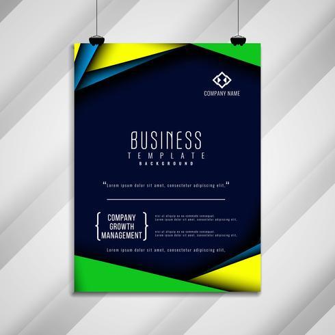 Design de modelo de folheto de negócios abstratos