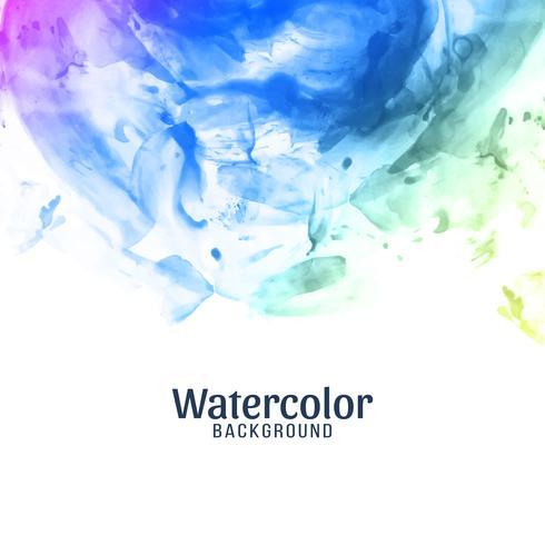 Fondo colorido abstracto de la acuarela vector