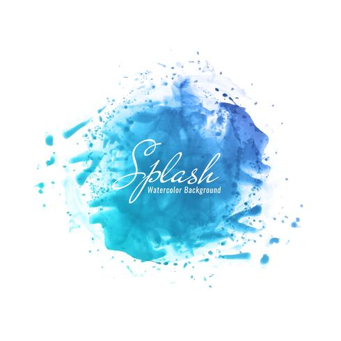 Fundo azul aquarela abstrata respingo