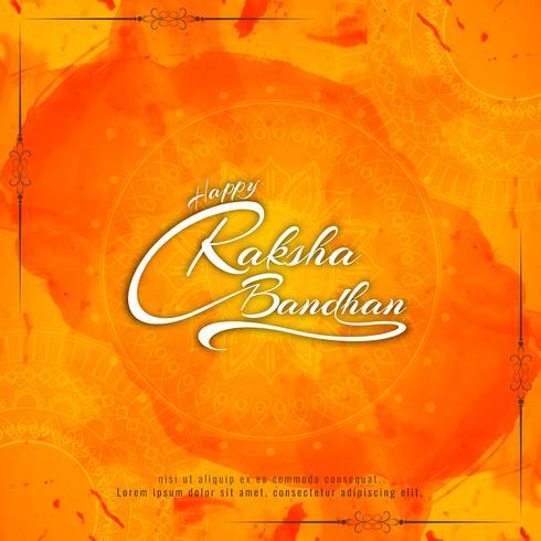 Abstrakt Glad Raksha Bandhan Text Design Bakgrund