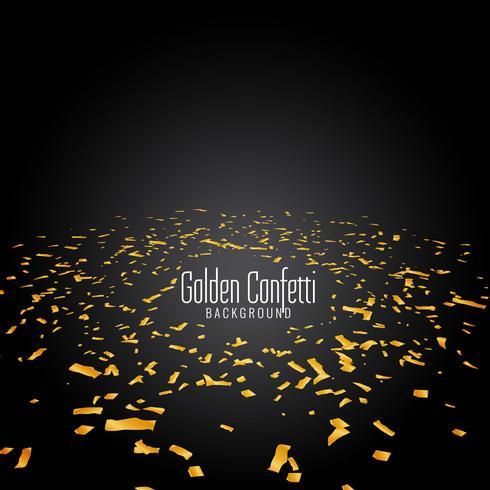 Abstrakt gyllene konfetti modern bakgrund vektor