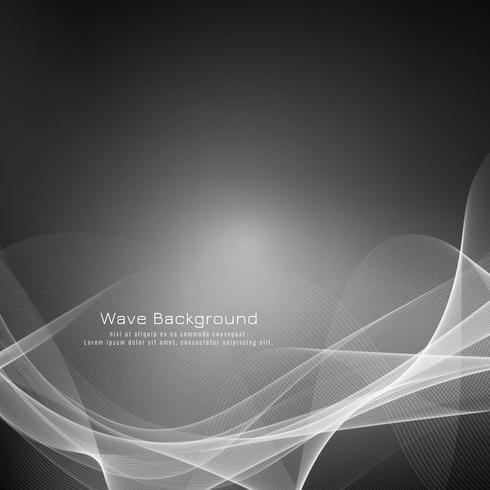 Fondo gris elegante abstracto de la onda vector