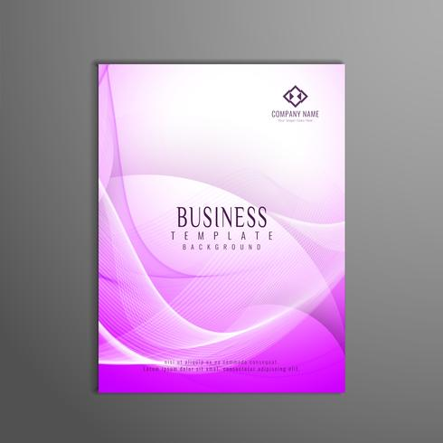 Design de modelo abstrato rosa ondulado negócios panfleto