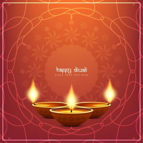 Résumé élégant fond heureux Diwali