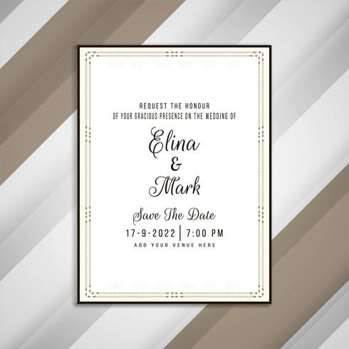 Abstract Elegant Wedding Invitation Card Design Download Free