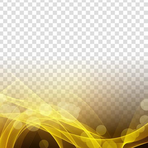 Transparenter Hintergrund der abstrakten modernen glühenden Welle