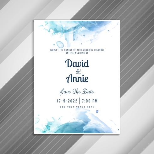 Abstract Stylish Wedding Invitation Card Template Download Free