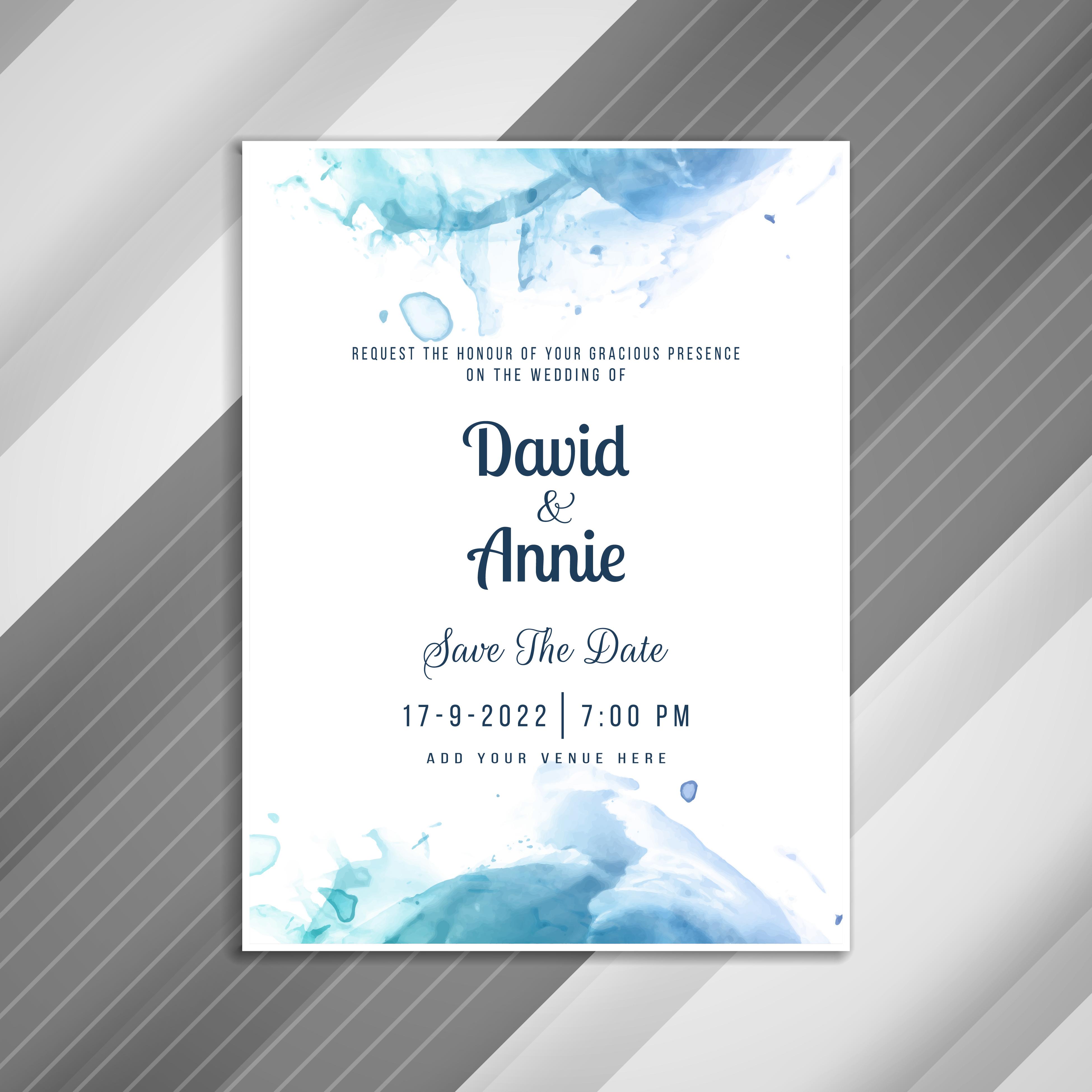 abstract stylish wedding invitation card template 254434