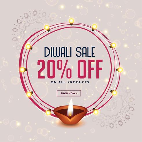glad diwali festival försäljning banner design