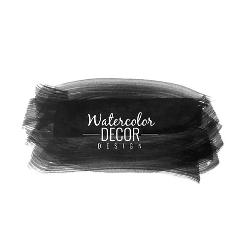 Abstract black watercolor stain design background