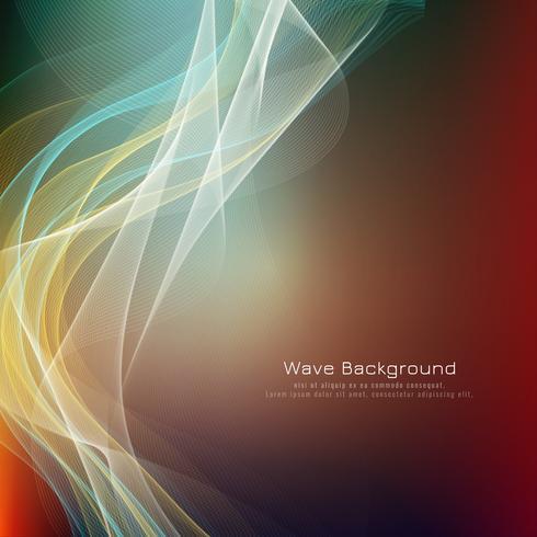 Fondo colorido elegante abstracto de la onda