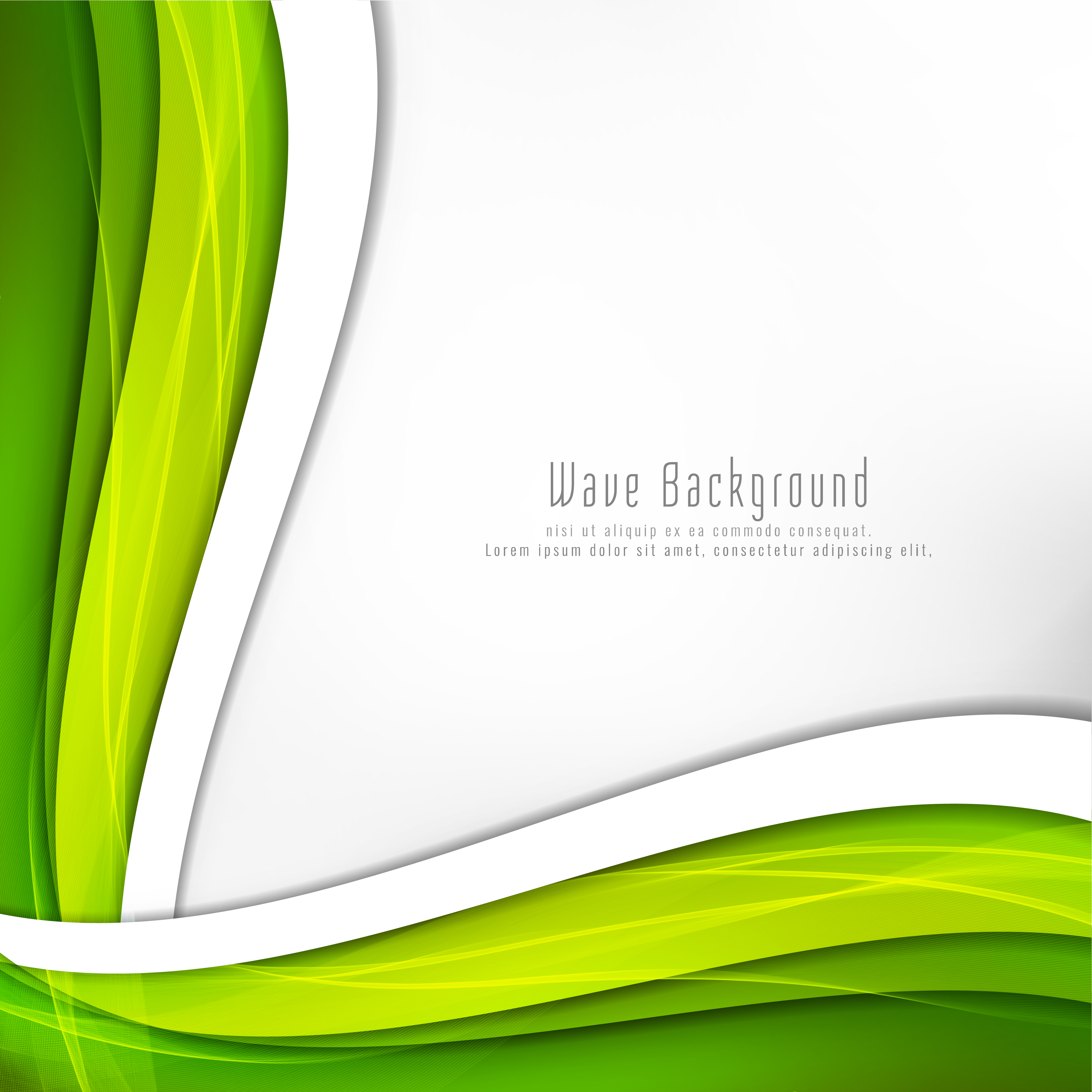 Abstract Bright Green Wave Background