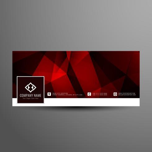 Modelo de capa do Resumo moderno facebook vermelho cor timeline vetor