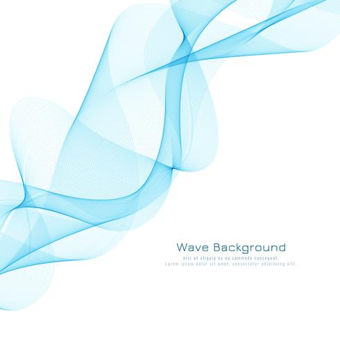 Abstrait bleu design élégant ondulé