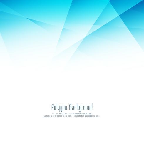Abstrait design moderne polygone bleu