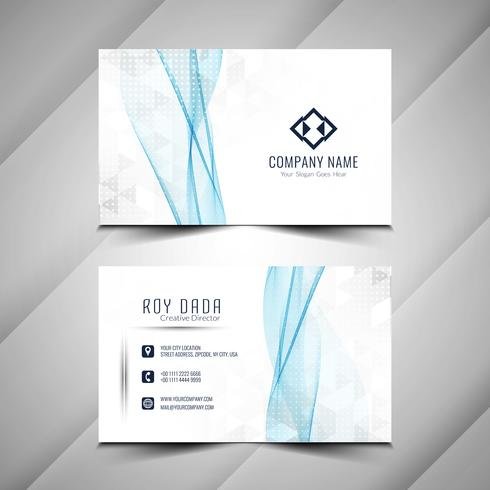 Abstract stylish business card template vector