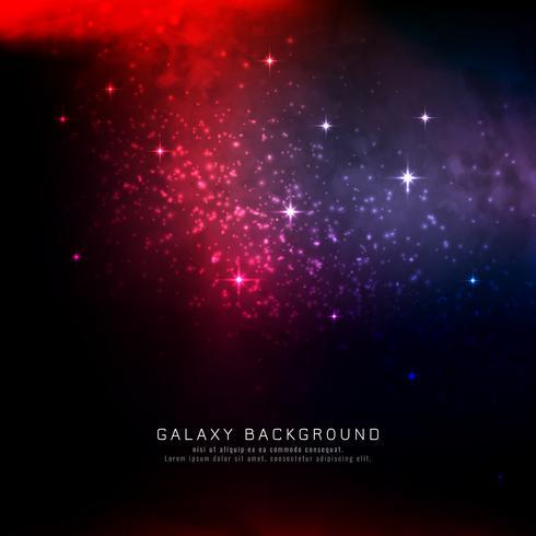 Fondo abstracto colorido de la galaxia vector