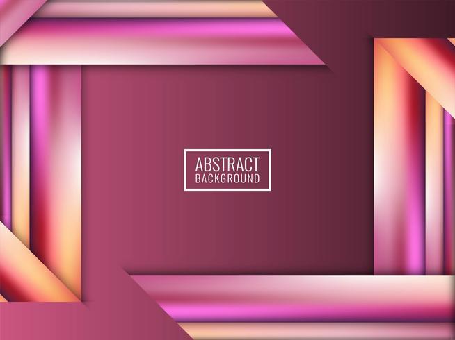 Abstrait moderne rayures colorées vectorielles