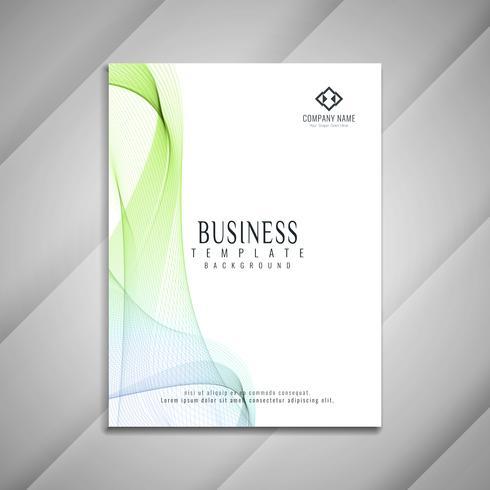 Abstrakt vågig affärs broschyr mall design