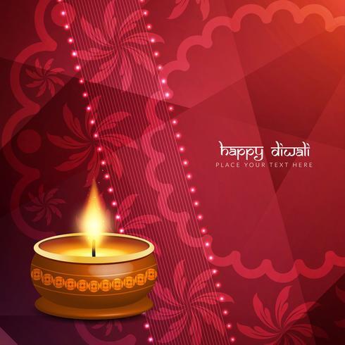 Fondo feliz hermoso abstracto del saludo de Diwali vector