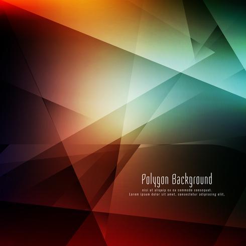 Fondo geométrico colorido elegante abstracto vector