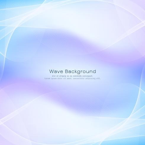Vague abstrait bleu vecteur