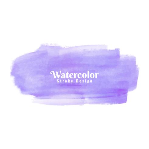 Abstract watercolor stroke design background vector