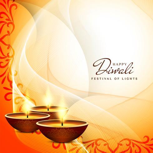 Fondo abstracto feliz festival de Diwali vector