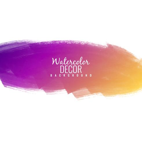 Abstract colorful watercolor stroke design elegant background