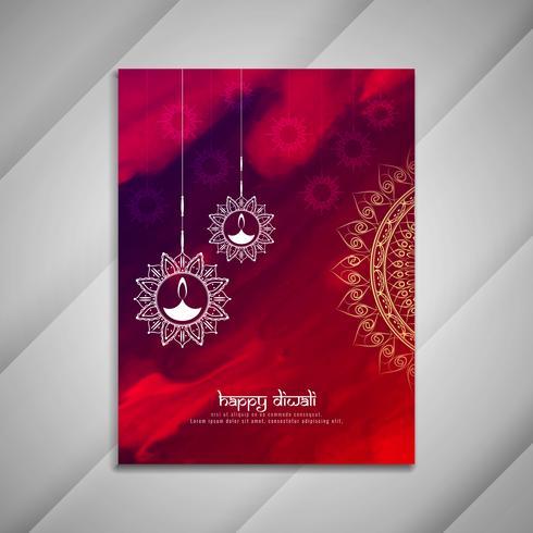 Diseño de folleto abstracto feliz Diwali vector