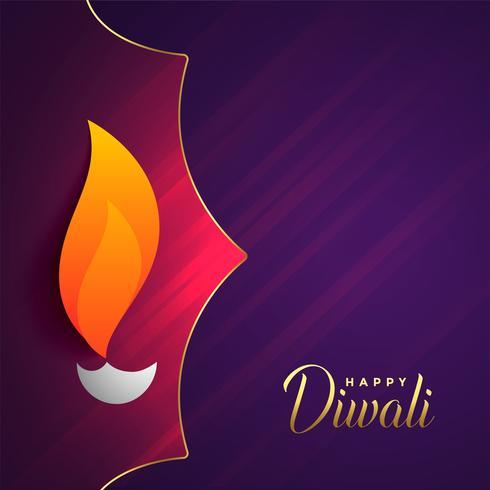 feliz diwali festival saudação com espaço de texto