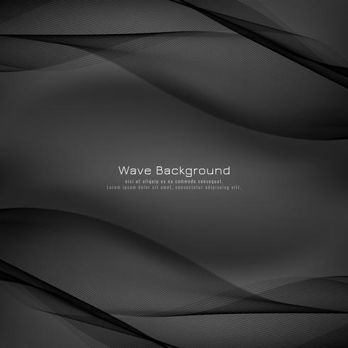 Abstrakter stilvoller grauer Wellenhintergrund