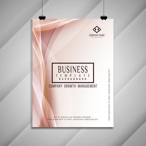 Abstracte golvende zakelijke brochure sjabloonontwerp