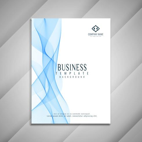 Abstract stylish wavy business brochure template design