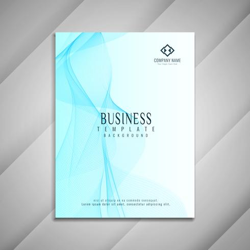 Abstract blue wavy business brochure