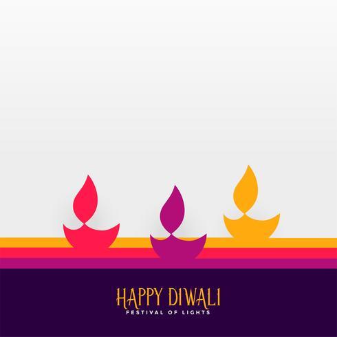 feliz diwali festival hindu diya fundo
