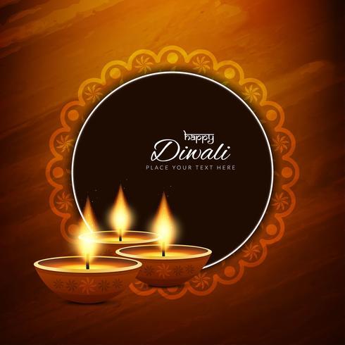 Fondo religioso abstracto feliz Diwali vector