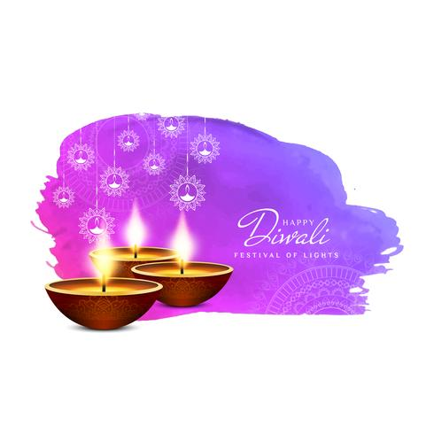 Fundo abstrato feliz de Diwali;
