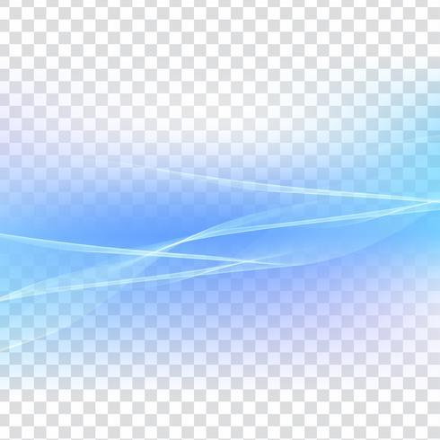 Abstrait vague bleue transparente