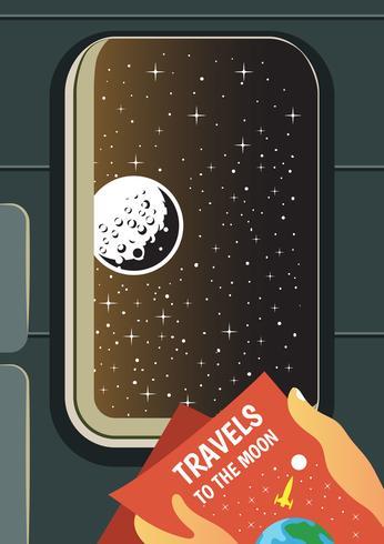 Cartaz do curso da lua vetor
