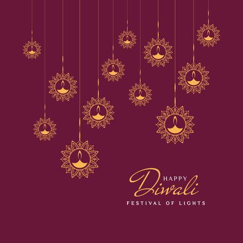 Fondo feliz abstracto de Diwali;