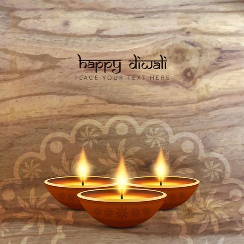 Fundo de textura de madeira feliz Diwali feliz