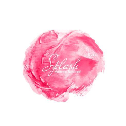 Fundo abstrato rosa respingo aquarela
